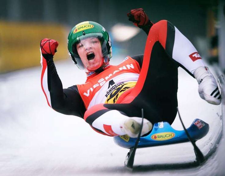 The best sports pictures of 2016:      Wolfgang Kindl of Austria celebrates third place in the Men's Luge on Day 2 of the Luge World Championships at Deutsche Post Eisarena on Jan. 31 in Koenigssee, Germany.