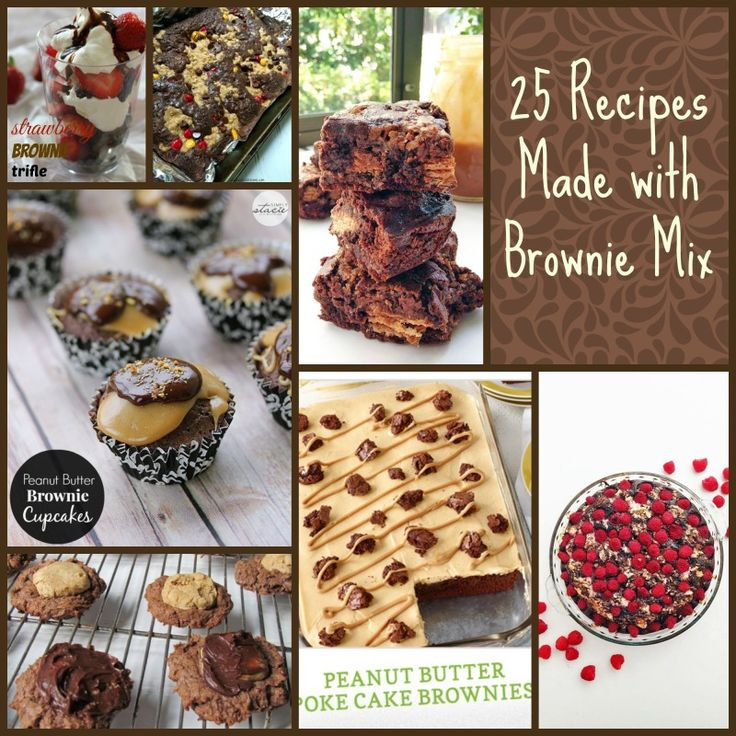 20 Easy Dessert Recipes using a Boxed Brownie Mix that will save time and make amazing desserts.
