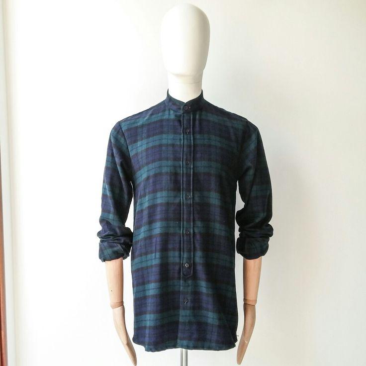 Shirt koko flannel by maen #bajukoko #mandarincollarshirt #madeinindonesia #maen #longfitshirts
