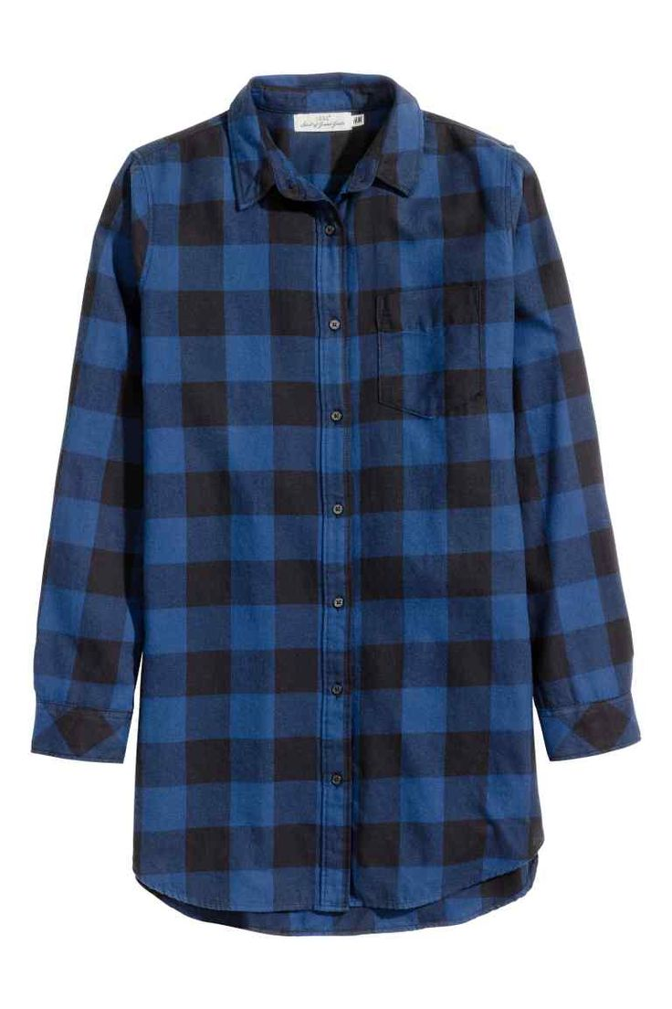 Long flannel shirt | H&M