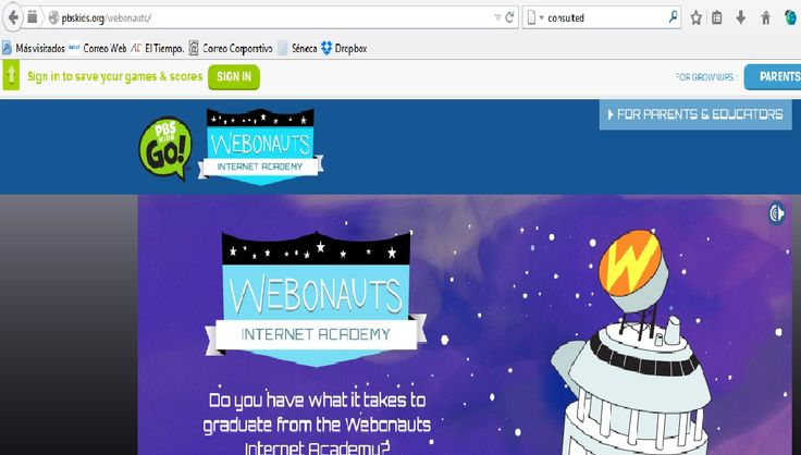 http://pbskids.org/webonauts/ Best game (too long, maybe) I found to teach Internet Safety.