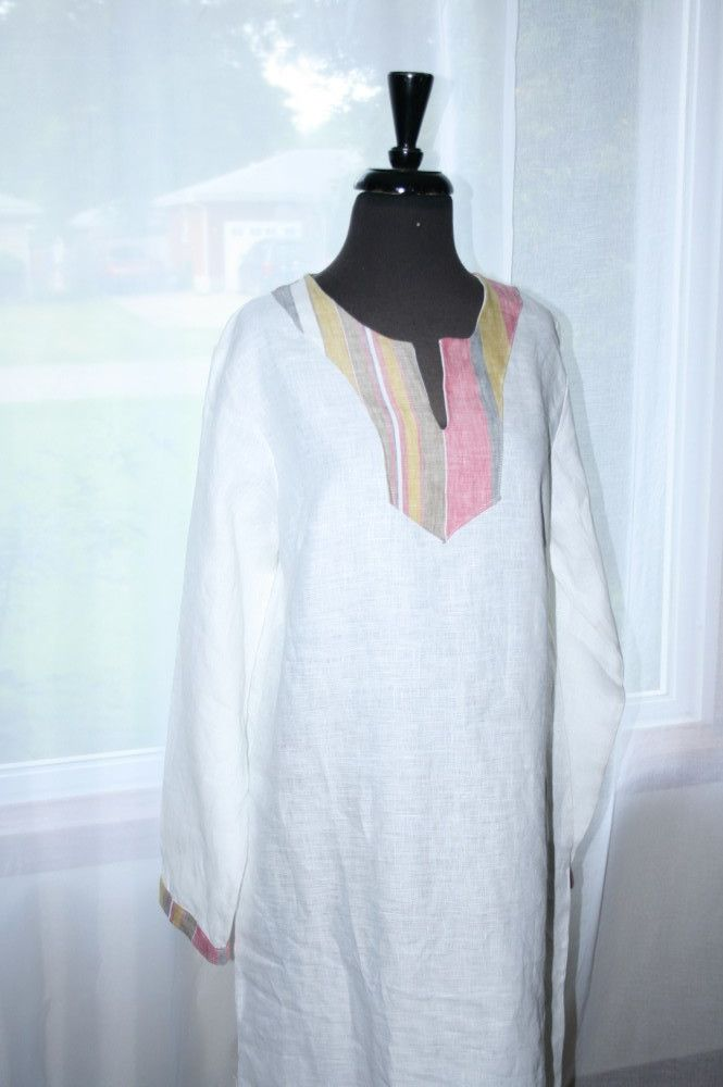 Women's Yoke Style Caftan – Linen (Customize) | Hebrew Garments