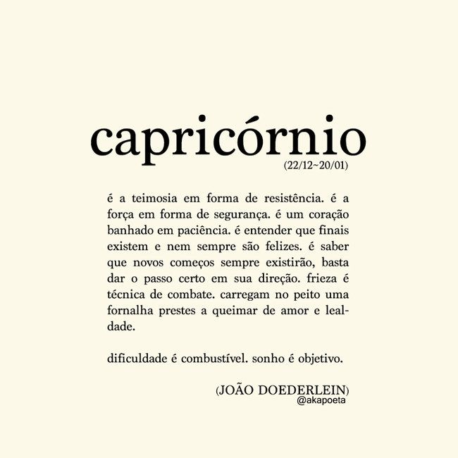 Poema Capricórnio