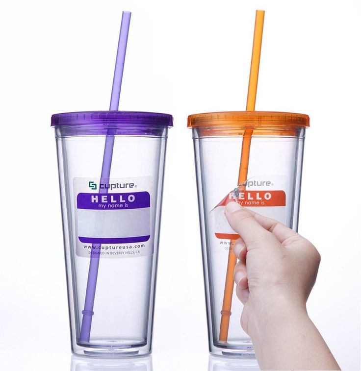 "This Reusable Double Wall #TumblerCup with Lid Insulated Reusable #Straw 24 oz 2 Pack is manufactured with strong and durable #BPA Free #acrylic materials, these double wall tumblers will help keep any ""hot"" or ""cold"" #beverage at the right #temperature."