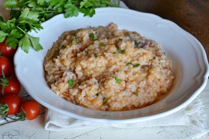 Risotto alla pescatora con bimby molto semplice,veloce ed economico con preparato per risotto