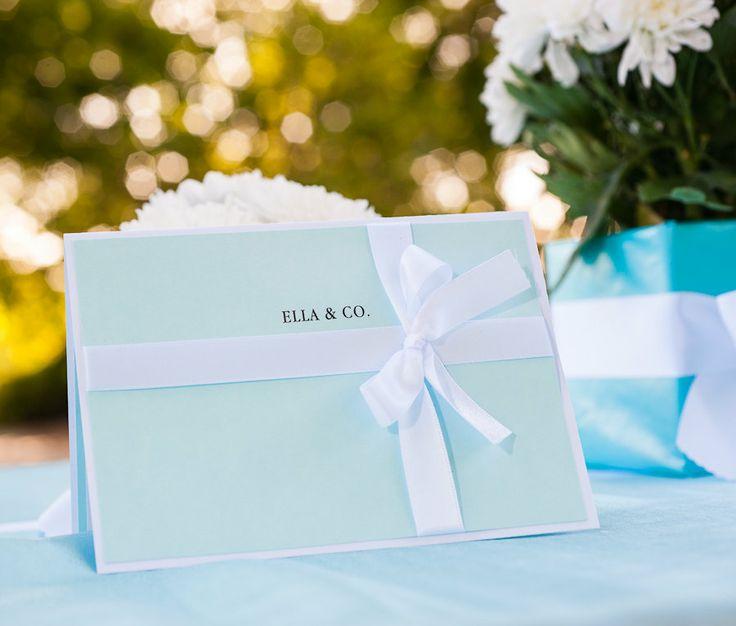Breakfast at Tiffanys Bridal Shower Invitation. Via Etsy.