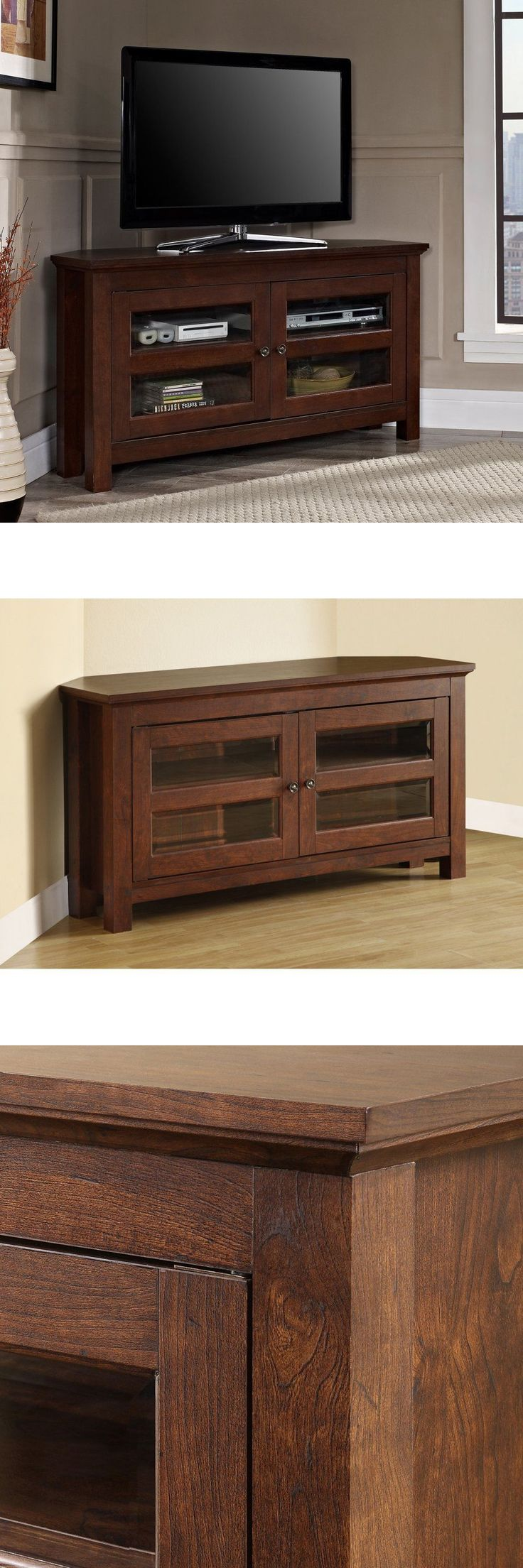 Entertainment Units TV Stands: Corner Tv Stand Entertainment Center Cabinet Storage Living Room Media Console -> BUY IT NOW ONLY: $118.44 on eBay!