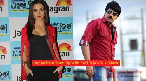 Amy Jackson Team Up With Ravi Teja's Next Movie