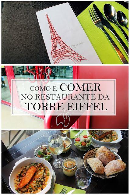 Drawing Dreaming - como é comer no restaurante 58 Tour Eiffel