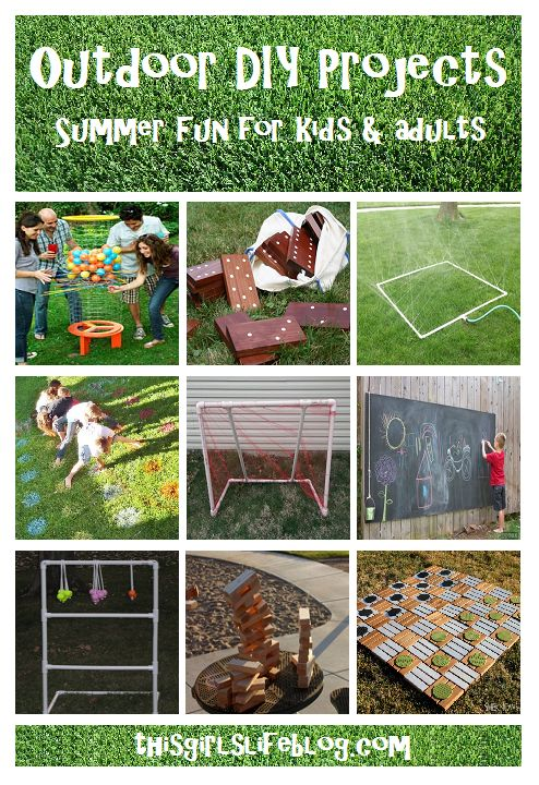 Summer outdoor diy projects and fun for Kids & Adults: Great game ideas for summer parties and birthday parties.