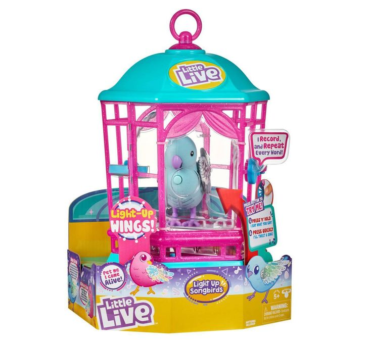 Little Live Light Up Song Bird In Cage C Snow Gleam Affiliate