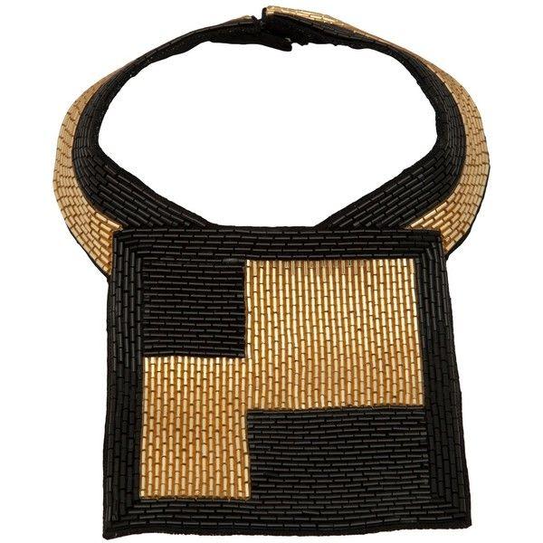 JULIA CLANCEY 'Square Bugle' necklace