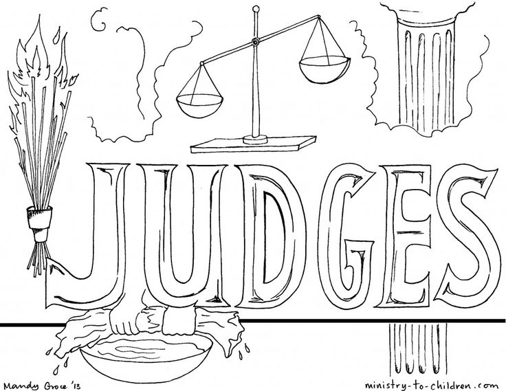 """""""Book of Judges"""" Bible Coloring Pages (With images ..."""
