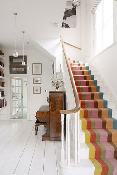 Striped Staircase Runner