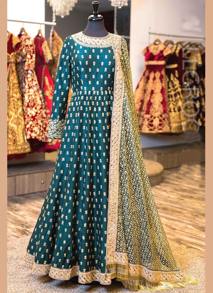Sorcerous Embroidered Work Banglori Silk Floor Length Anarkali Suit