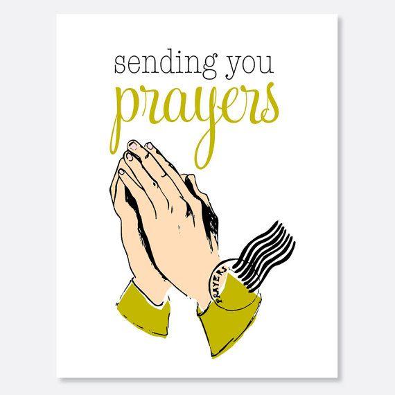 Sending Prayers Warrior/Cancer Card by uluckygirl on Etsy