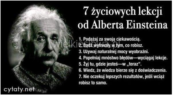7 życiowych lekcji od Alberta Einsteina…