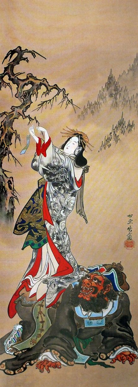 Japan, hanging scroll by Kawanabe Kyōsai (1831-1889)