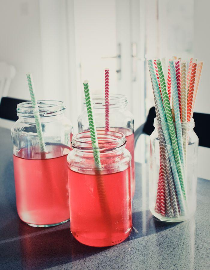 Rose petal vodka and watermelon cocktail
