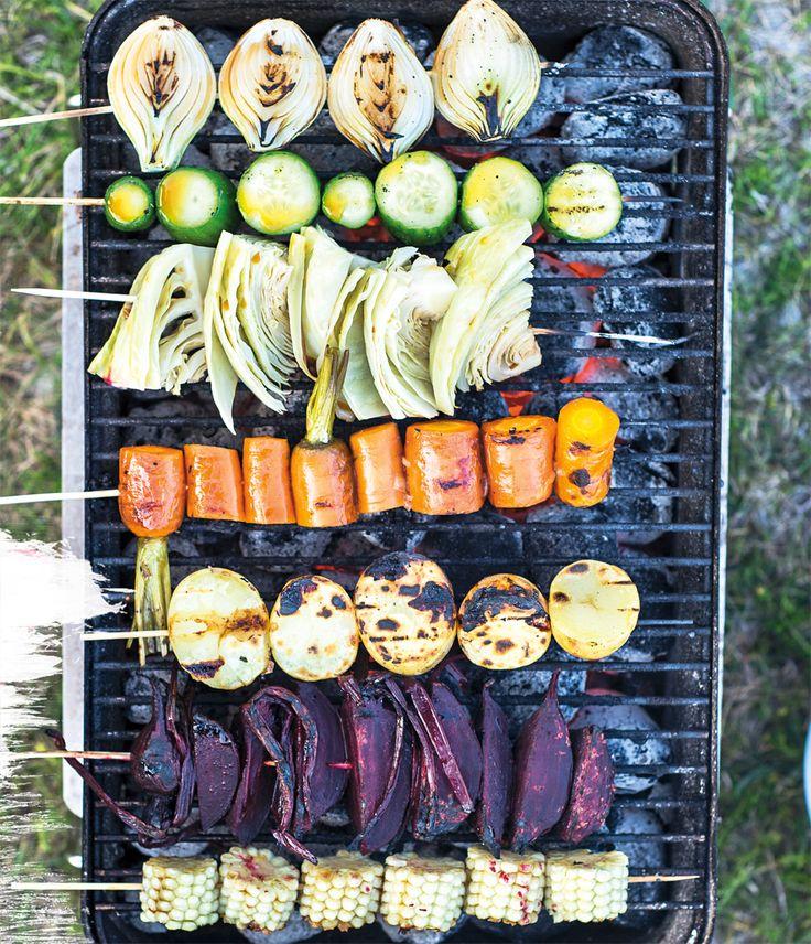 Recept på teriyaki-grönsaker, gott och enkelt att grilla vegetariskt.
