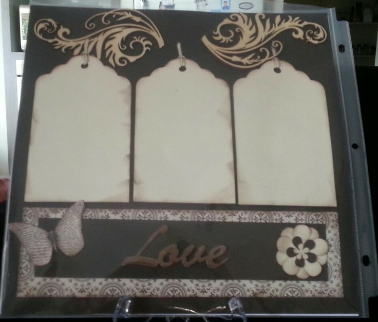 Page 1 of a double layout scrapbooking kaszazz design.