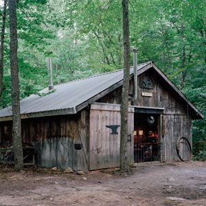 Blacksmith Barn. Every good blacksmith shop has a hot side of the shop and a cold side. The hot side holds the forge, anvils, fly press, chisels, tongs and punches; on the cold side, you'll find the storage racks, assembly table, sanding station and bar twister.