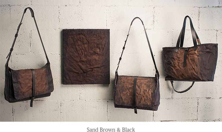 sand brown & black