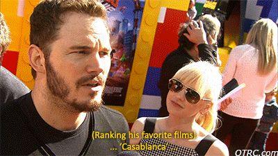 He's cultured.   28 Reasons Chris Pratt Is The Human Golden Retriever Of Your Dreams