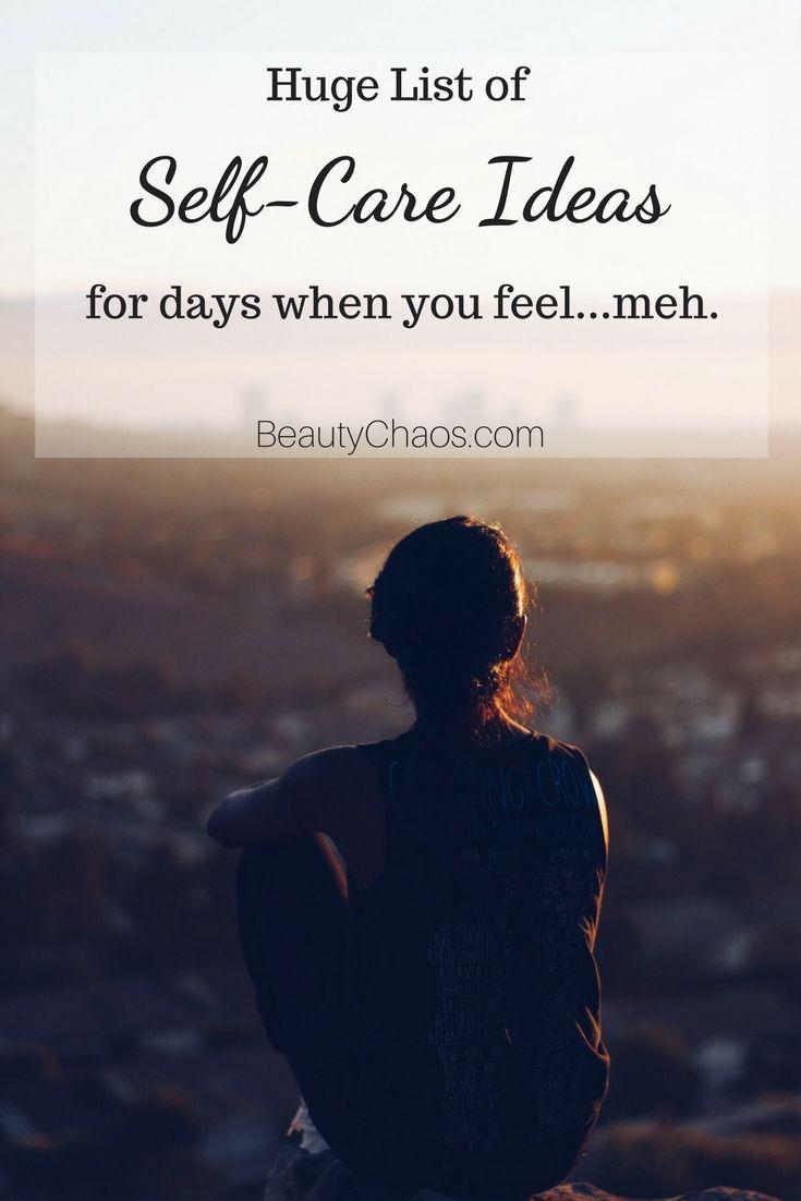 FREE PRINTABLE List of Self-Care Ideas | BeautyChaos.com #selfcare #freebie #freeprintable