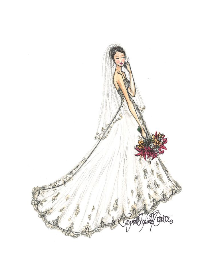 Custom Bridal Portrait listing for Amanda by ANNAandMARIEart