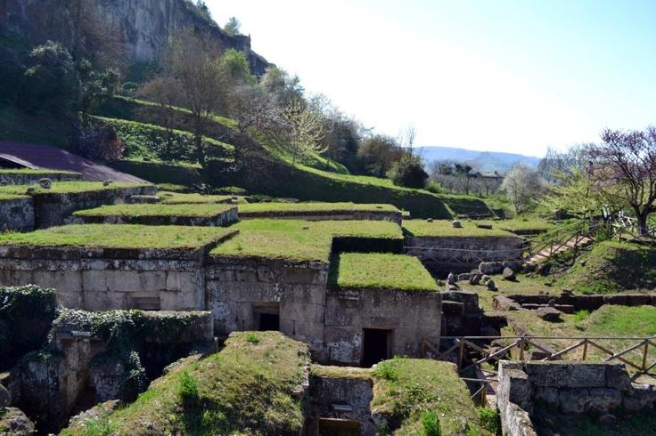 Necropoli Etrusca del Crocifisso del Tufo, Orvieto, Italy