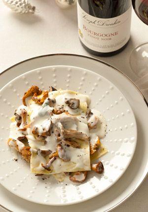 lasagne met paddenstoelen, salie en krokante kalkoen tussengerecht 25 min