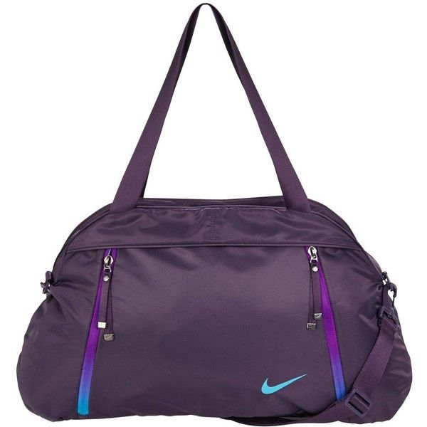 Nike Auralux Solid Club Training Bag ($58) ❤ liked on Polyvore featuring bags, handbags, shoulder bags, purple purse, nike purse, nike shoulder bag, nike handbags and top handle purse