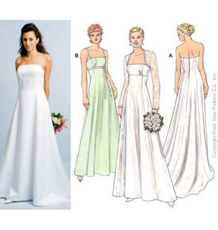 simple wedding gown patterns | Fashion Gallery