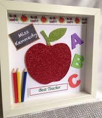 Image result for teacher scrabble letter box frame gift
