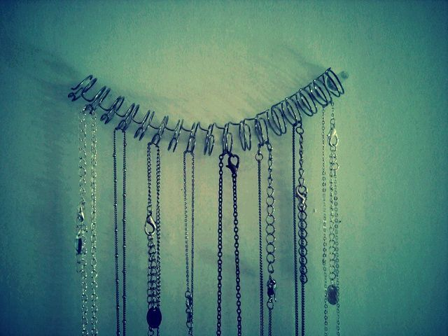 necklaces hanger - upcycling