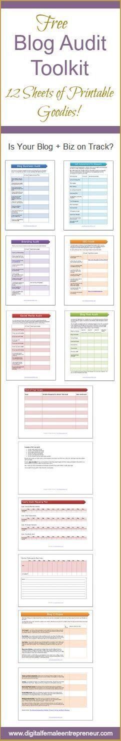 Blog Website Audit Worksheets. #blogaudit #websiteaudit #blogprintables #blogging #blogger #blogchecklist