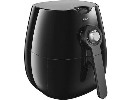 Philips - Viva Collection Airfryer Low-Fat Multicooker - Black/Silver - Angle Zoom