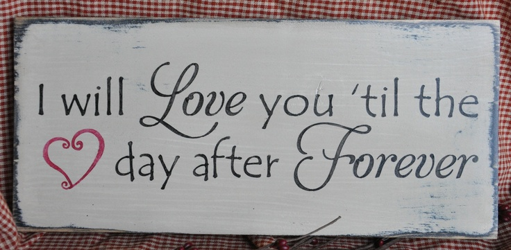 Primitive Rustic Western Country I Will Love You Wood Sign Shelf Sitter. $12.99, via Etsy.