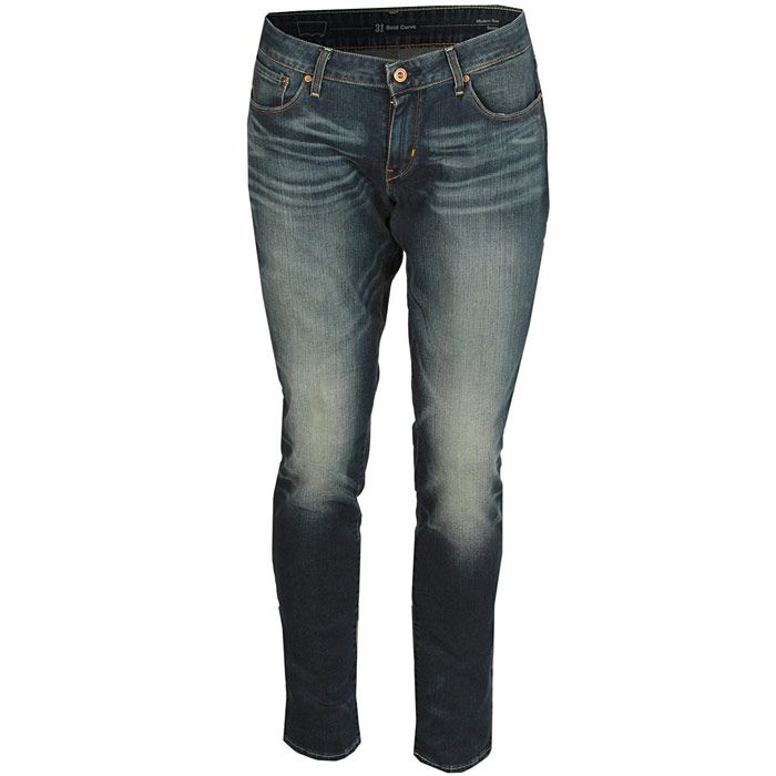 Levis Womens MD BC Skinny Unique Blue Jeans in Blue