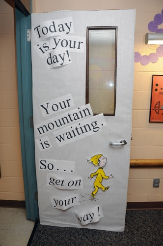 Classroom Decoration Ideas Quotes : Cute way to decorate your classroom door dr seuss