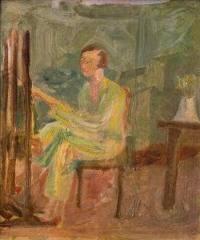 Autoportret przy sztalugach, 1917-1924.