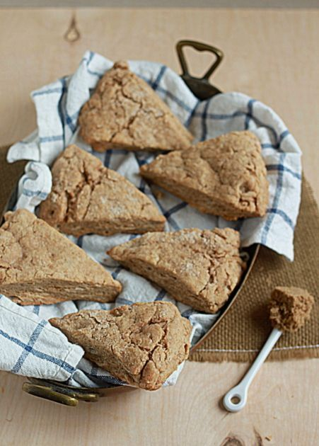 Brown sugar cinnamon scones. Just made these this morning they are so moist and delicious. Maggie said the scone recipe is a keeper!