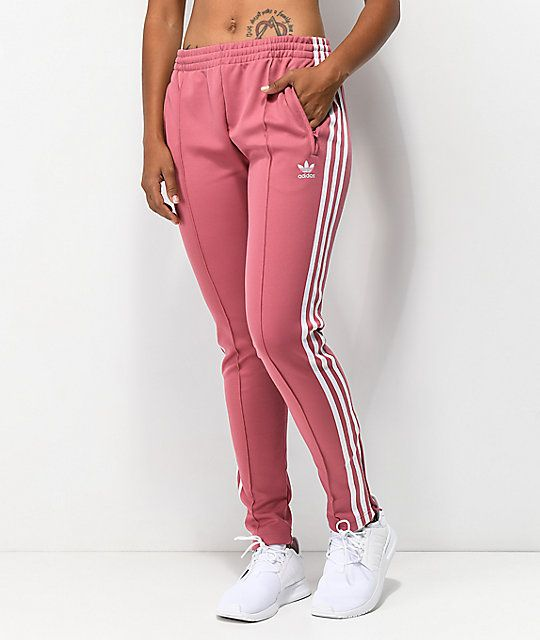 e3db0df8500 adidas 3 Stripe Mauve Track Pants in 2019 | To Buy | Pants, Leggings ...