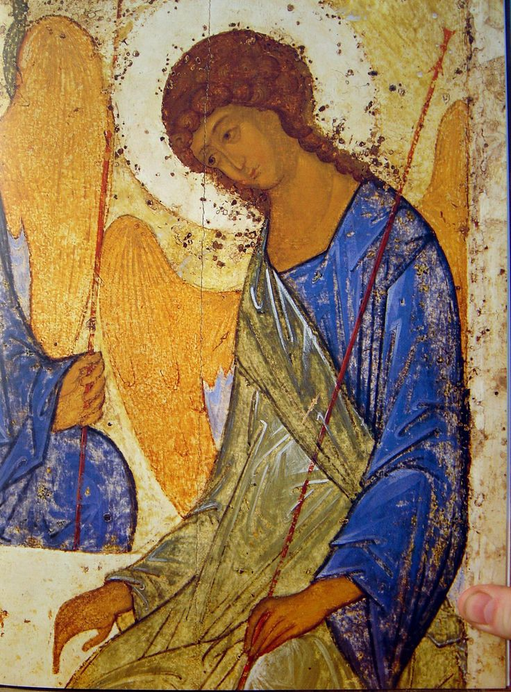 Andrei Roublev Trinity detail