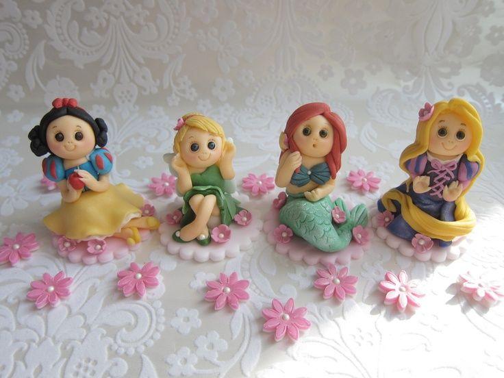 princess cakes fondant figuriens | Princess Fondant Cake Toppers by mimicafe Union http://mimicafeunion ...
