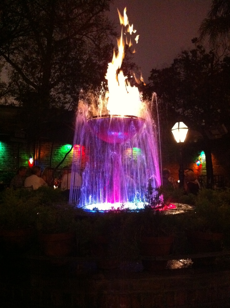 The Fire And Water Fountain At Pat O Brien S In New