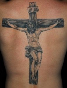 Crucifix Back Tattoo