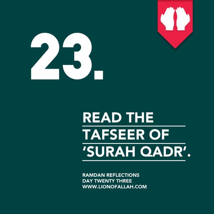 Ramadan Reflections: Day Twenty Three.