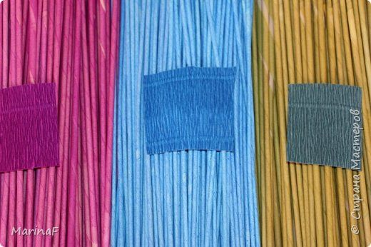 Мастер-класс Материалы и инструменты Плетение Окраска бумажных трубочек Бумага гофрированная Трубочки бумажные фото 7